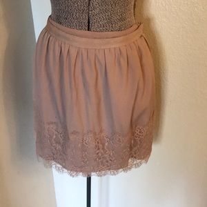 Forever 21 skirt with lace bottom